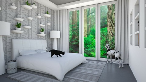 Rainforest - Eclectic - Bedroom  - by Theadora