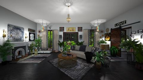 Modern Bohemian  - Eclectic - Living room  - by  krc60