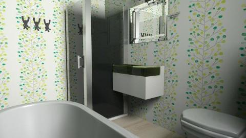 small bathroom colorful - Minimal - Bathroom  - by anerella