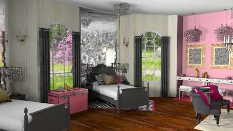 teenage bedroom - Glamour - Bedroom  - by lysha
