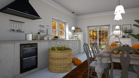Harvest Time Kitchen - Rustic - Kitchen  - by Claudia Correia