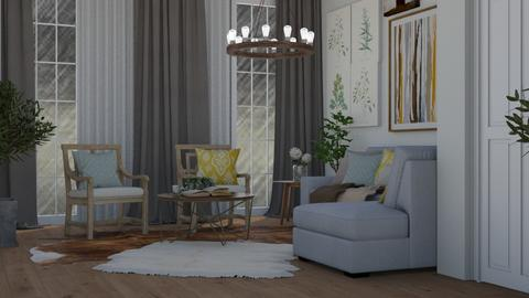 Rainy living - Eclectic - Living room  - by NEVERQUITDESIGNIT