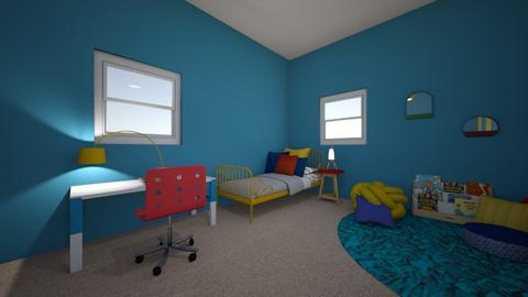 Dr Primary colors  - Bedroom  - by EvelynCepeda374594
