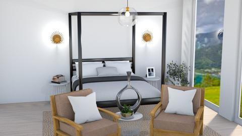 Master Bedroom - Living room  - by SunflowerStudios