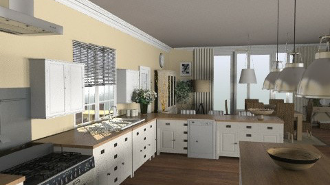 Peverel Kitchen - Classic - Kitchen  - by laurawoodley
