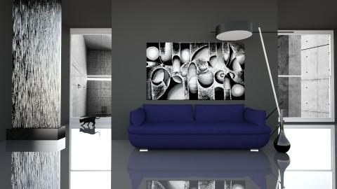 Black glamour - Living room - by Alina Varzaru
