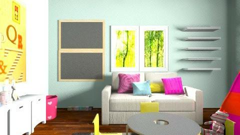 aga bawialnia - Kids room - by agafrutek