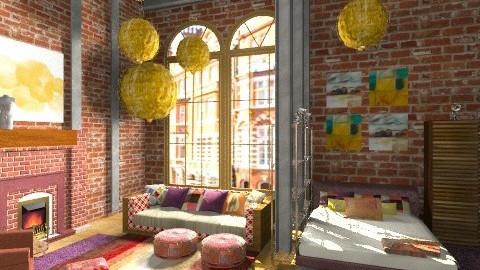 Vintage loft - Vintage - Living room  - by Giuiulai