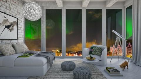 Northern Lights - Modern - Bedroom  - by bgref