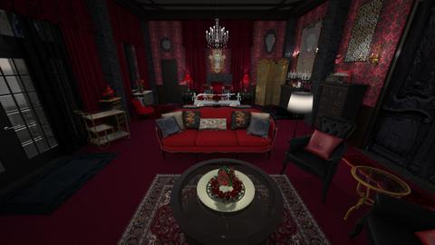 Red Vintage Bedroom 2 - Classic - Bedroom - by Pirschjaeger