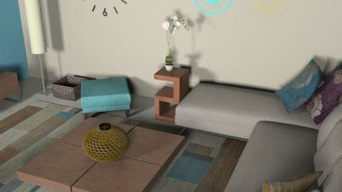 ocean and sand - Retro - Living room  - by Andrea_
