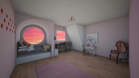 pink room - Bedroom  - by flame_dancer1