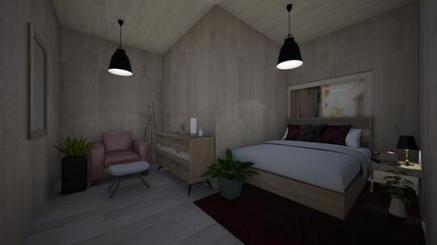 Burgundy Natural bedroom - Bedroom  - by hannahelise1 and louisebelle