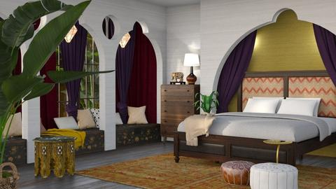 Palm and Textures - Bedroom  - by dominicjames