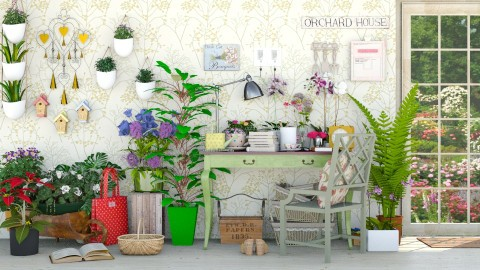 The Orchid House - Garden  - by meggle