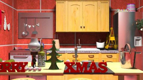 christmas kitchen - Classic - Kitchen  - by ATELOIV87