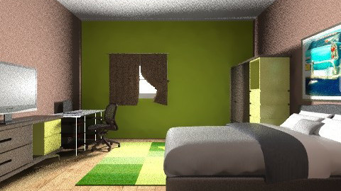Teen Guy Room - Retro - Bedroom  - by Izzydizzy123