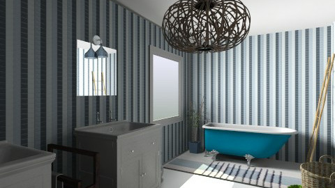 Positano bathroom - Retro - Bathroom  - by ValeGra