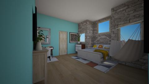 beach vibes bedroom - Bedroom  - by mayaann_10