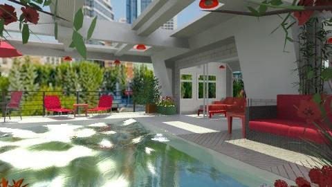 Summer on the roof - Modern - Garden  - by Bibiche