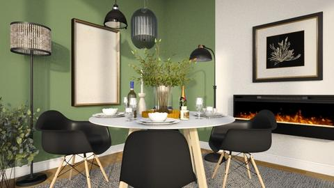 Lamps and Round Table - Dining room  - by MiaM