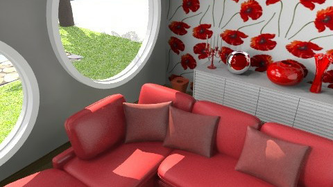 Chilin' Chilli Red 4 - Retro - Living room  - by juhaszrena
