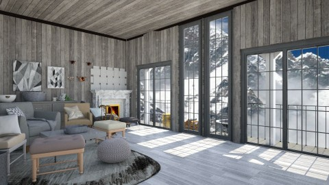 Winter Cabin two - Modern - Living room  - by InteriorDesigner111