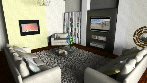 lime living - Living room - by teen bedroom