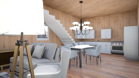 Winter Cabin - Living room  - by eeppsss