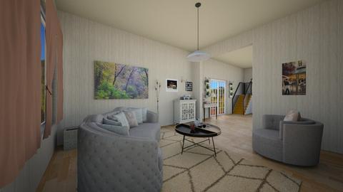 Mia Tiny Rm - Minimal - Living room  - by emivim