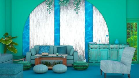Turquoise  - Modern - Living room  - by InteriorDesigner111