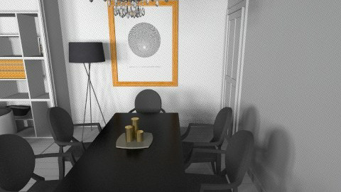 monochrome  - Modern - Dining room - by bethcot