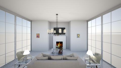 Modern Greek Living - Modern - Living room  - by Charginghawks