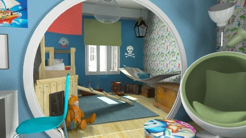Little pirate - Kids room  - by Tuija