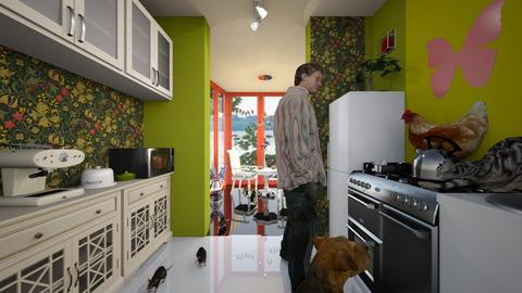 animal lover lol - Eclectic - Kitchen  - by Orionaute