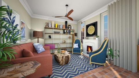 Eclectic Living Room - Living room - by amyskouson