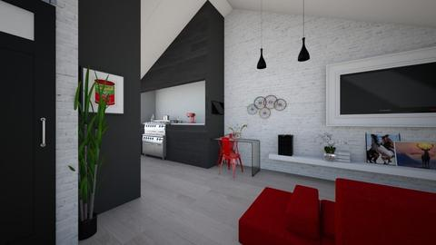 BlankKitchenLivingDining - Eclectic - Kitchen  - by gaietta_aa