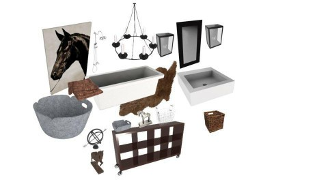 Modern farmhouse bathroom - by Tina Yvette