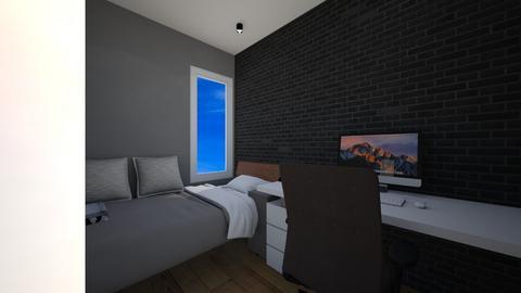 My Bed and Work Room - Minimal - Bedroom  - by Lensa Putih