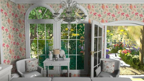 Cottage Room - Country - Garden  - by PomBom