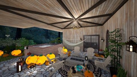 patio - Feminine - Garden  - by BlackOrchidea