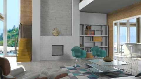 LR Eames - Modern - Living room  - by liling