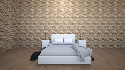Brick Bedroom - Bedroom - by ae62726