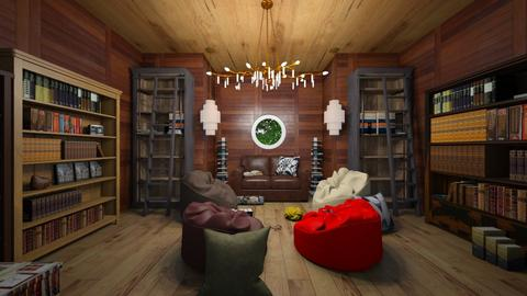 Rustic Library - Rustic - by sophie_sully