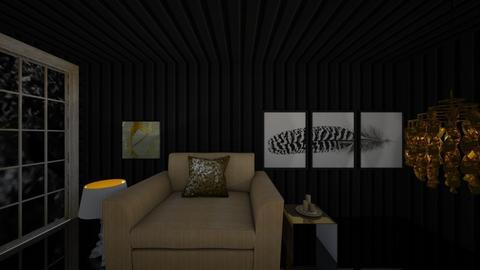 Gold n Black - Minimal - Living room  - by hannahelise