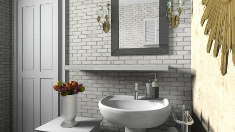 Miller Small GB Door - Eclectic - Bathroom - by anetzham