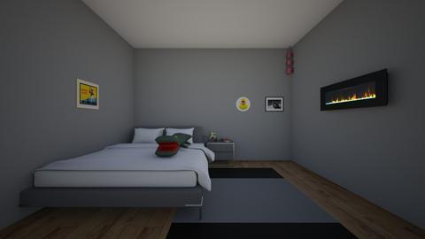sero dorm room - Bedroom  - by crying_room