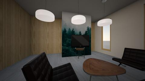 T 2 - Minimal - Living room  - by adelinaghita