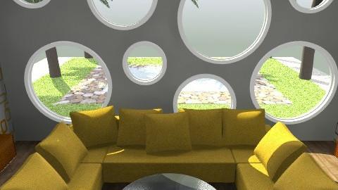 Chilin' Yellow 1 - Retro - Living room  - by juhaszrena