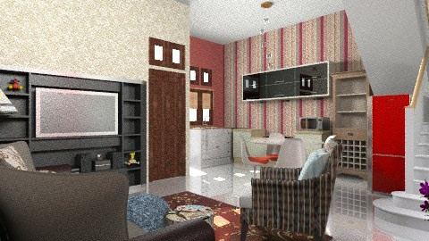small all in room - Minimal - Living room  - by Veny Mully
